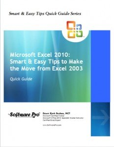 Microsoft Excel Training, Excel 2010 Tips