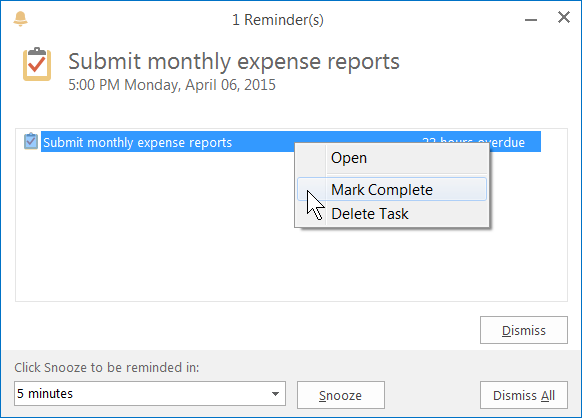 task reminders in Outlook, repeating tasks in Microsoft Outlook, Outlook tips