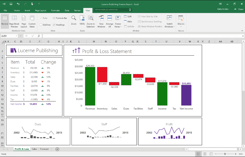 Excel 2016 New Features and Enhancements