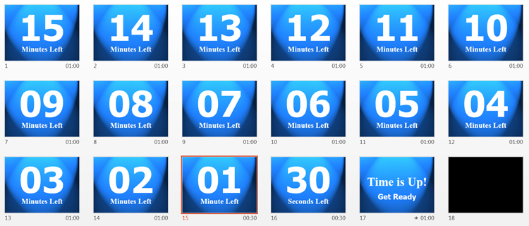 create or download a powerpoint countdown timer, Modern powerpoint