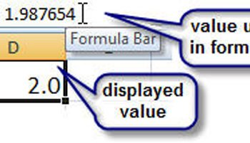 Microsoft Excel ROUND function, Excel number formatting
