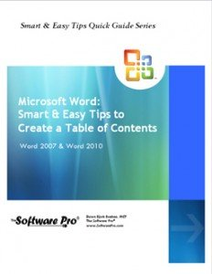 Microsoft Word Training, Word Table of Contents