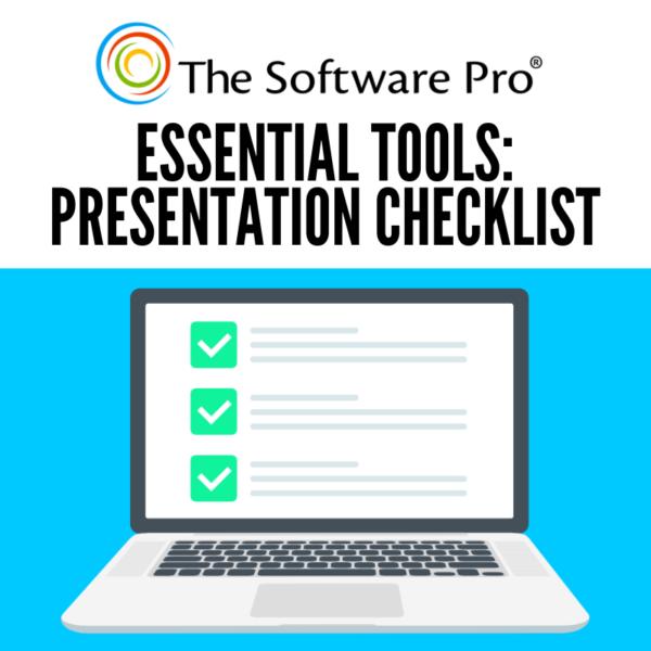 presentation checklist, PowerPoint tips