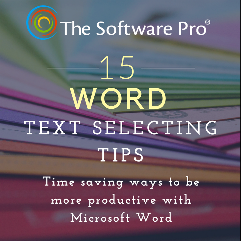 Microsoft Word Keyboard Shortcuts to Select Text in a Document