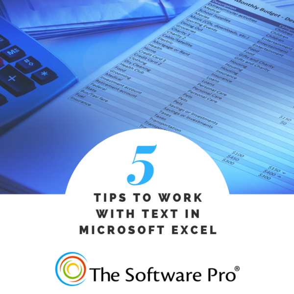 Microsoft Excel text tips, working with text in Excel