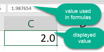 Microsoft Excel ROUND function, auditing worksheets