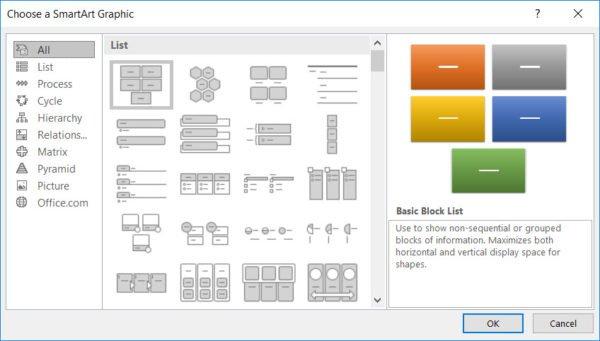 Creating SmartArt Graphics