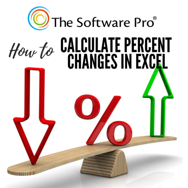 how to calculate a percent change in Excel