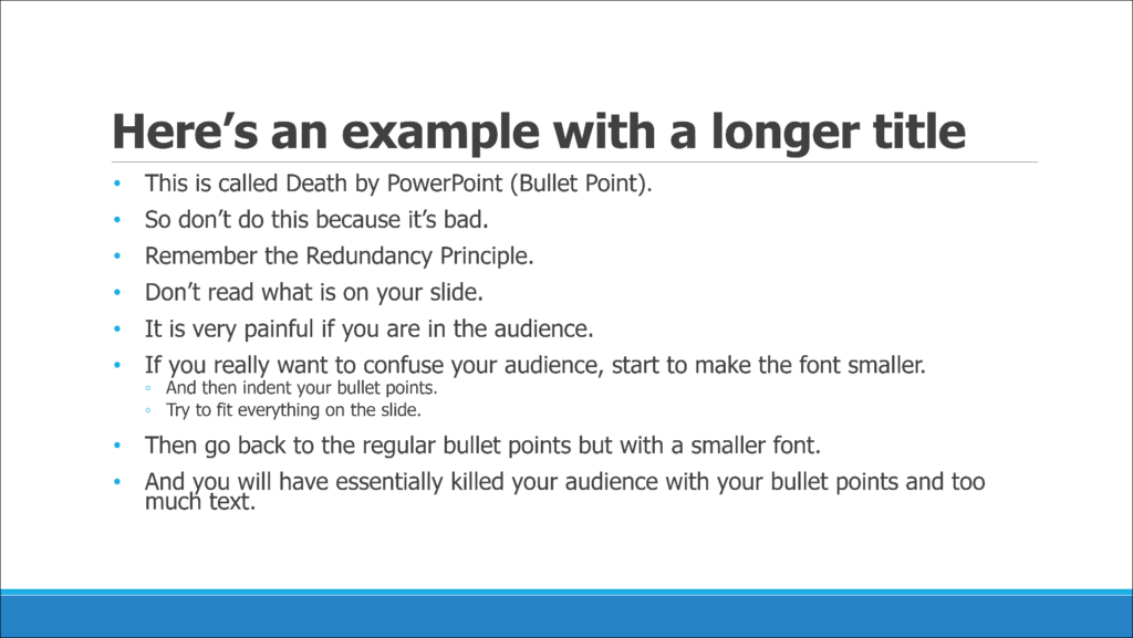 PowerPoint AutoFit feature, worst PowerPoint feature, shrinking text in a slide