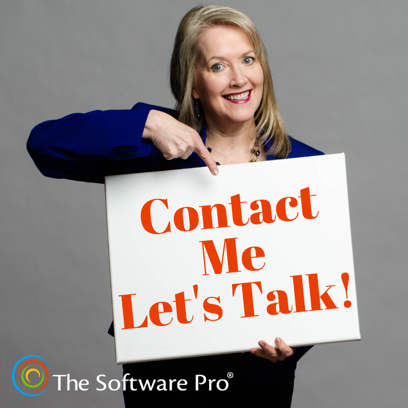 How to contact Dawn Bjork, The Software Pro, for speaking and training on software skills and productivity